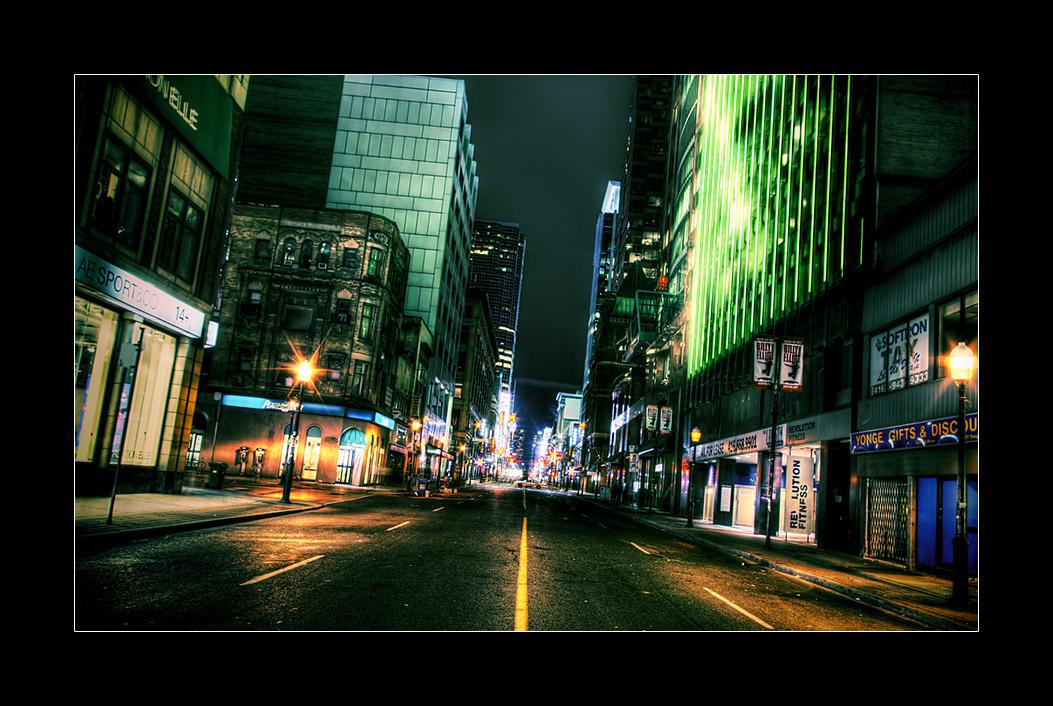 Empty Yonge Street (Toronto) by sh4dow