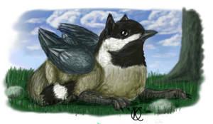 Chickadee Gryphon by Katolin