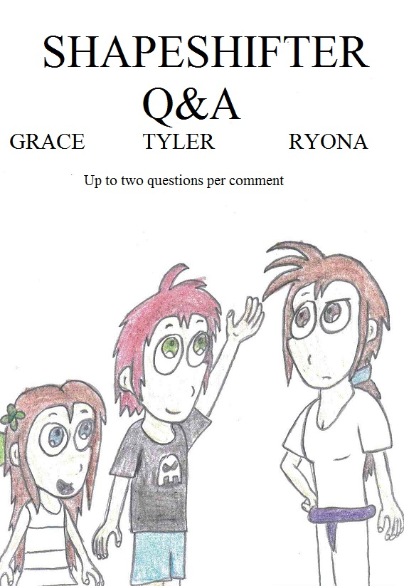 Ask the OCs - Tyler, Grace and Ryona by Crash-the-Megaraptor