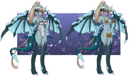 Ice Dragon Girl :COMM: by shawn1013