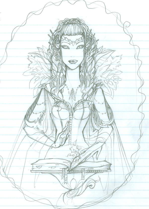 Mother Nature - Sketch by Dark-elfa on DeviantArt
