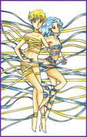 Haruka and Michiru by Dark-elfa