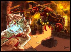 Ryu VS Akuma by MastaHicks