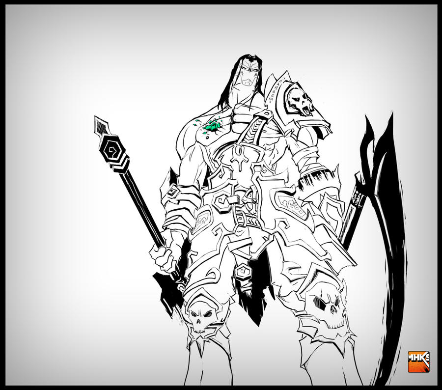 Darksiders II - Death BW by MastaHicks