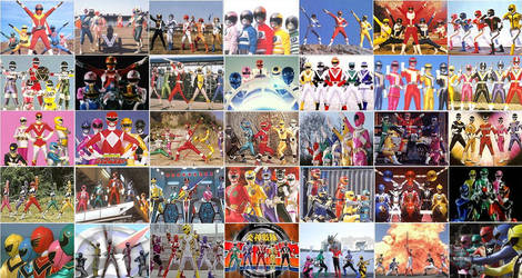 All Super Sentai by Tyrann1990