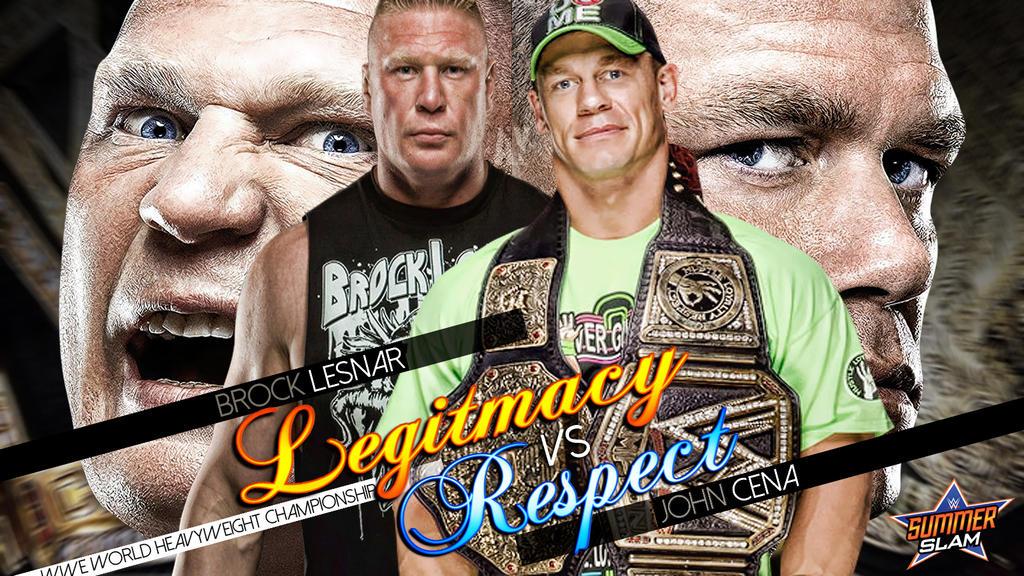 John Cena Vs Brock Lesnar Matchcard By AY AyBenoit12