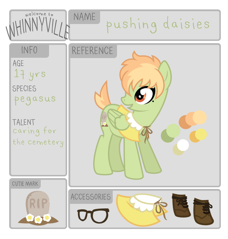 wv app: pushing daisies by ivyshire