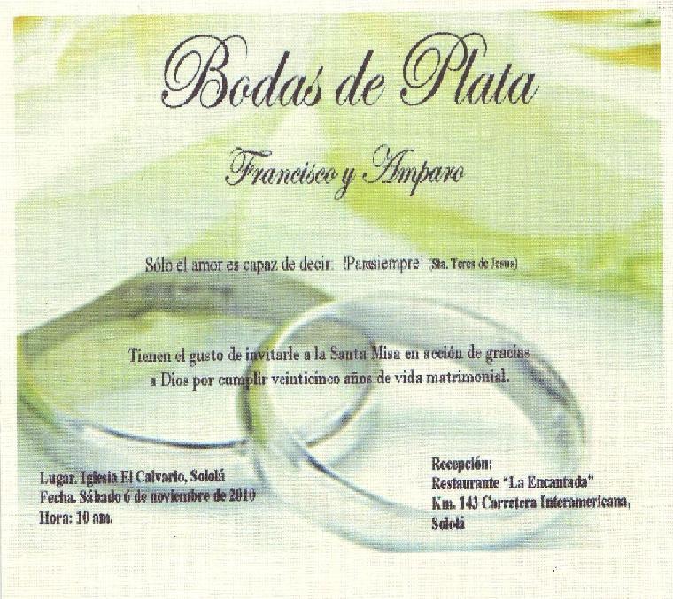 Bodas De Plata By EditionsbyConny