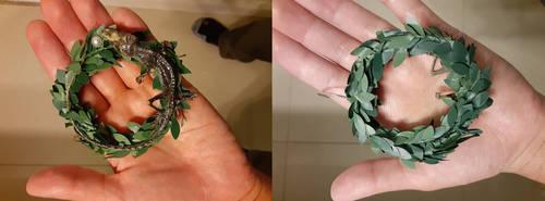 Real Taxidermy Lizard Wreath Ornament