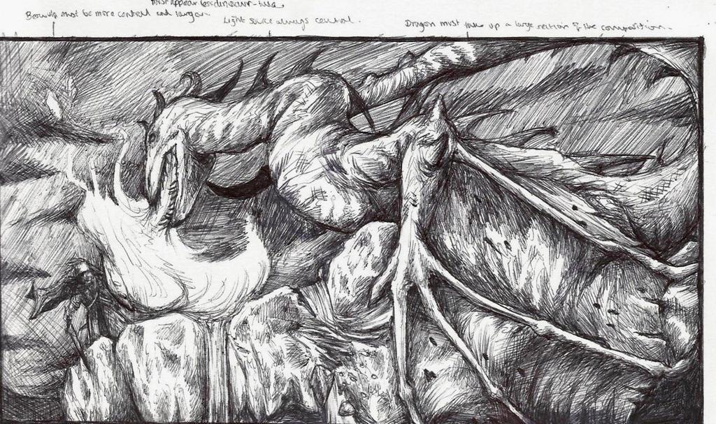 beowulf vs dragon summary