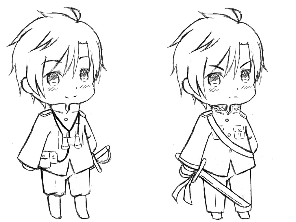 Anime Chibi Template Chibi Body Coloring Pages Mtm