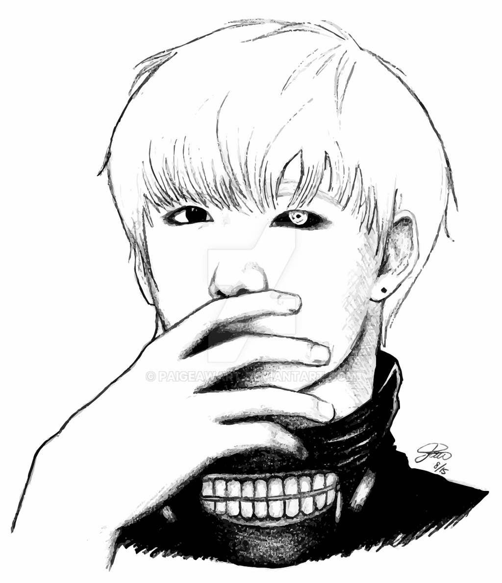 Taehyung As Kaneki Ken By PaigeAWArt On DeviantArt