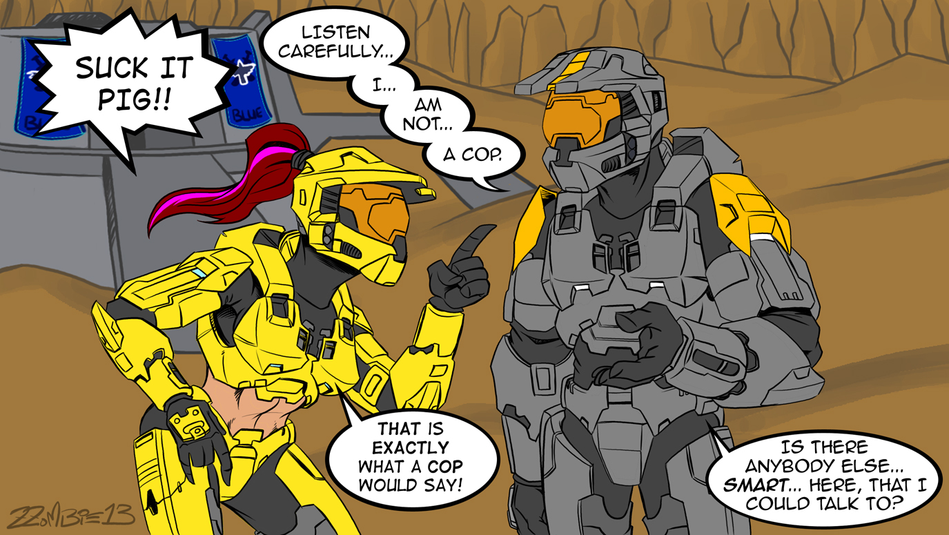 Halo red vs blue porn hentai photo