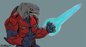 Sangheili with Sword: colors
