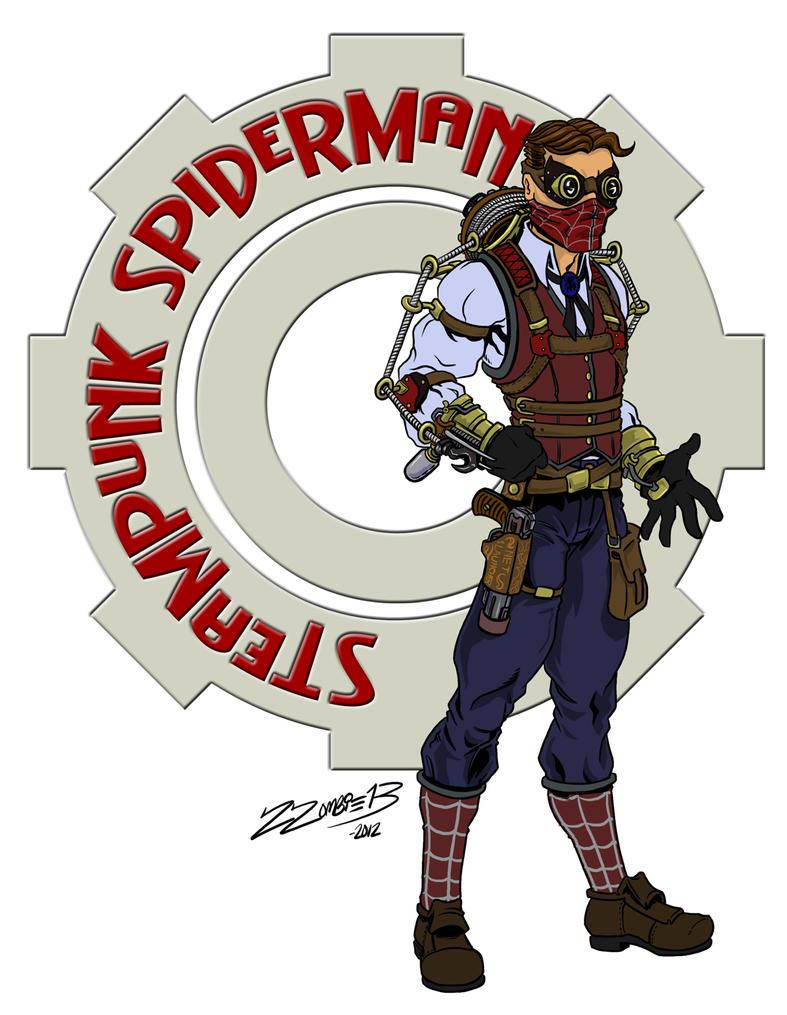 Steampunk Spider-man by ZZoMBiEXIII
