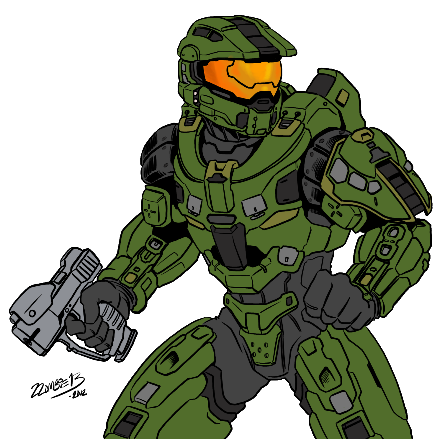 Halo 4 Master Chief by ZZoMBiEXIII