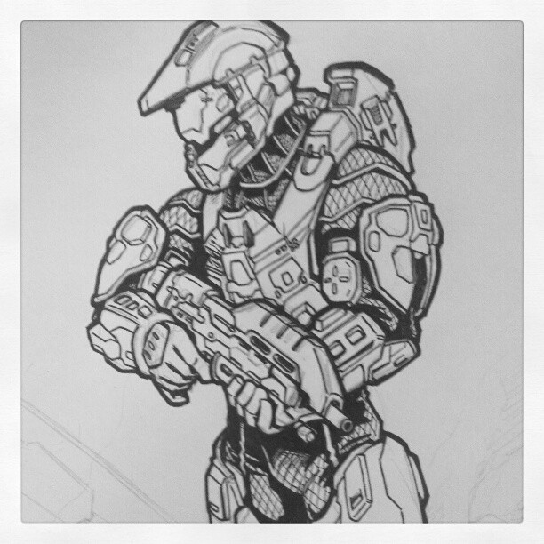 Master Chief by ZZoMBiEXIII