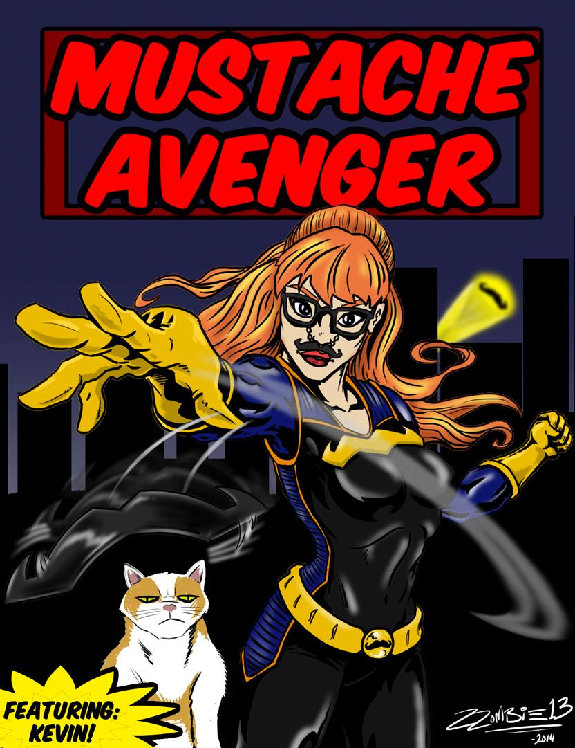 Mustache Avenger by ZZoMBiEXIII