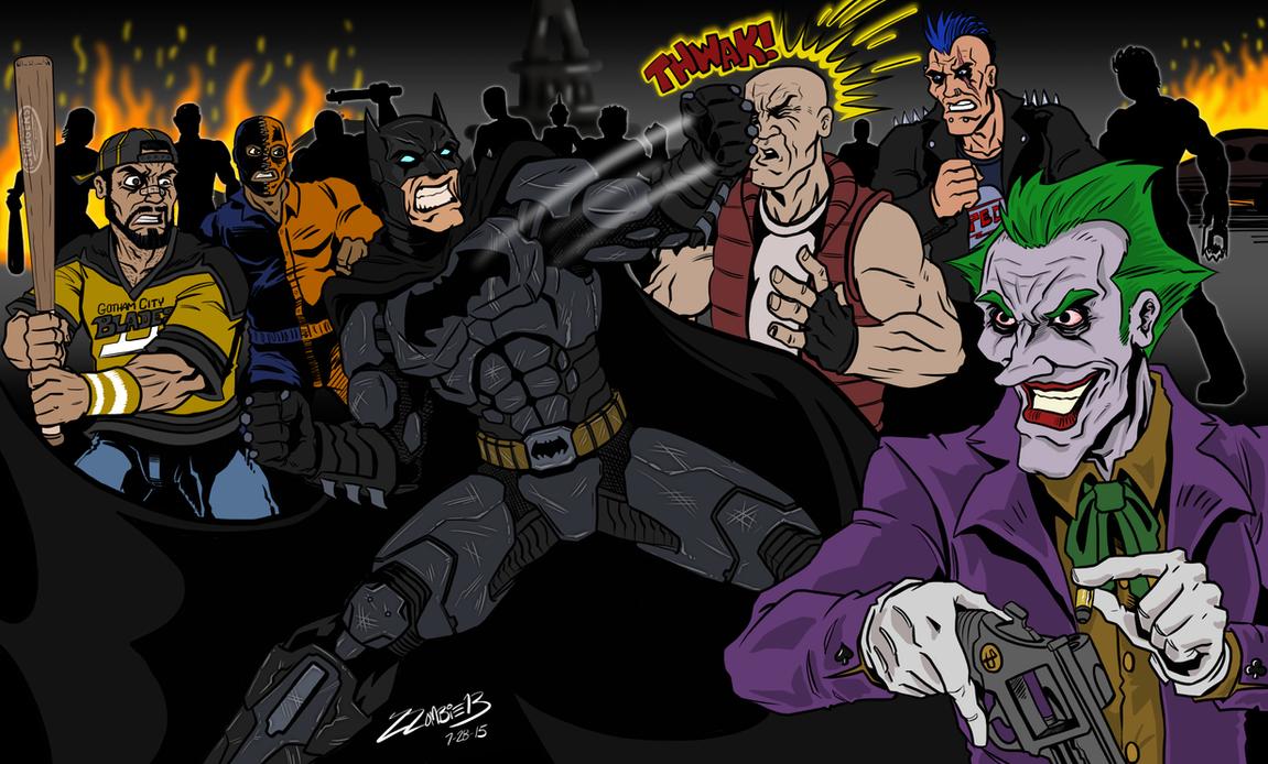 Arkham Fight by ZZoMBiEXIII