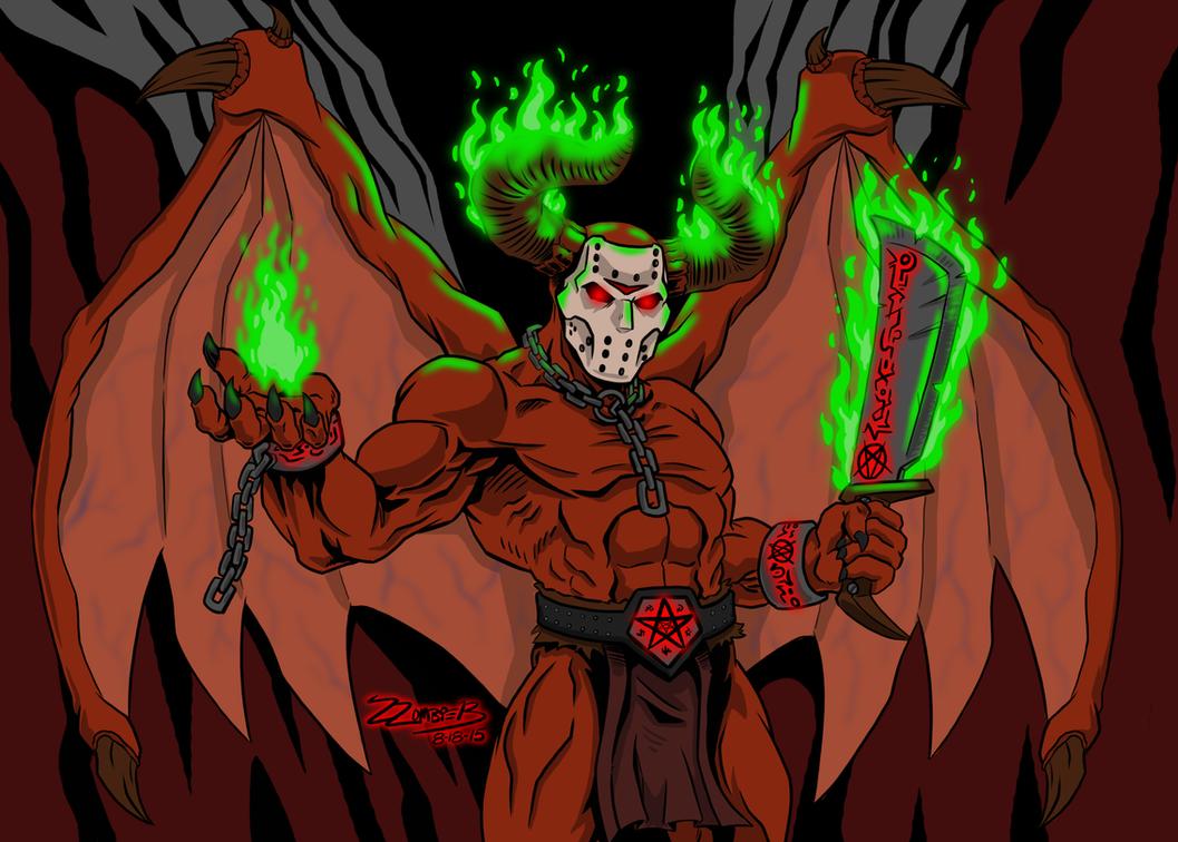 Jason Voorhees Demon form by ZZoMBiEXIII
