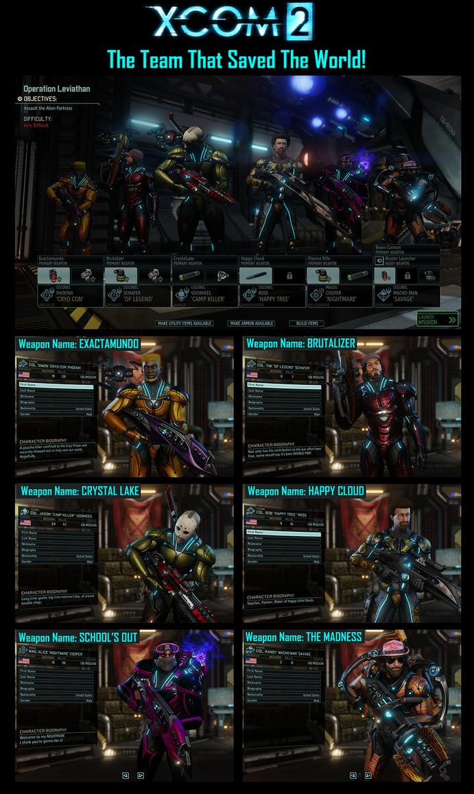 My XCOM2 Team by ZZoMBiEXIII