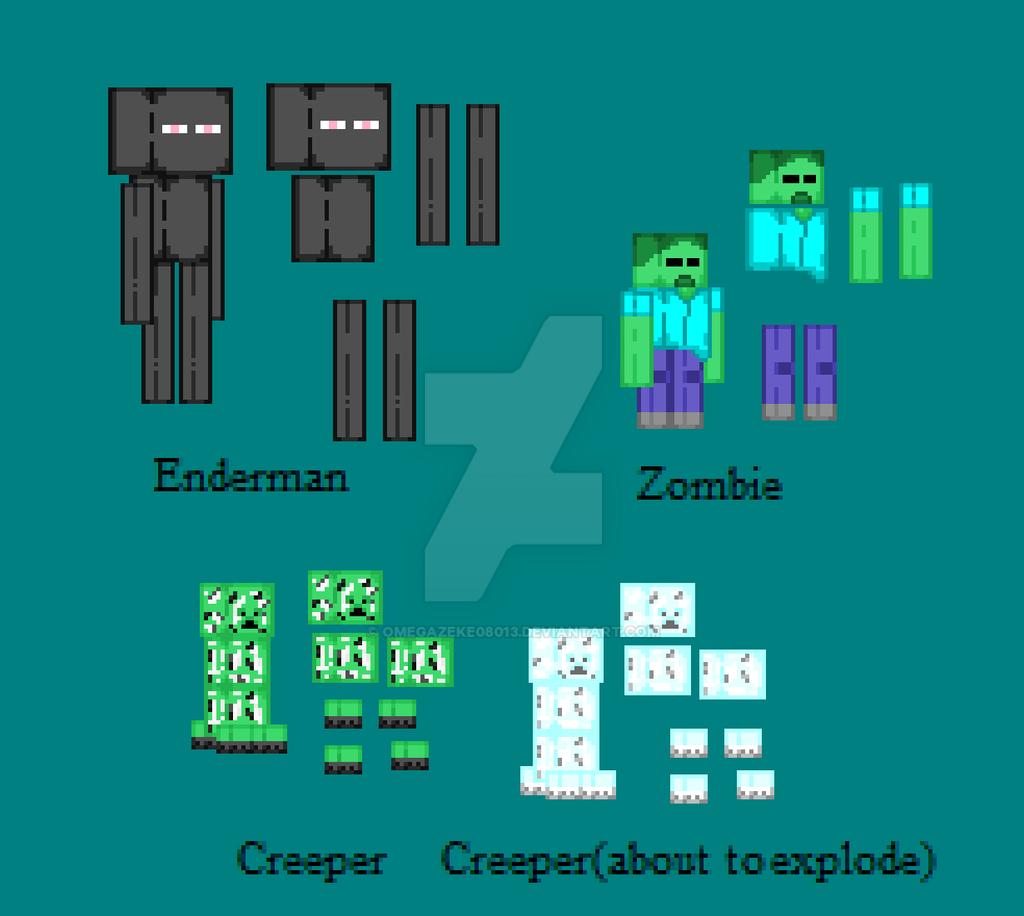 custom minecraft mob sprites by omegazeke08013 on DeviantArt