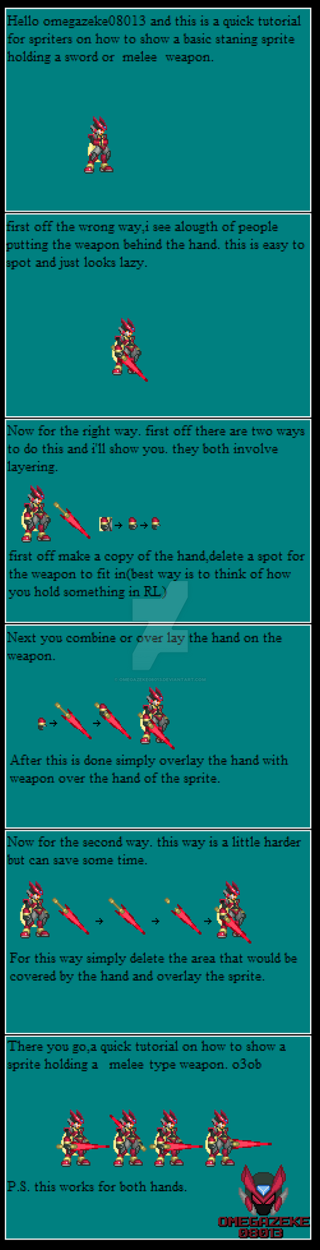 melee weapon sprite tutorial o3o by omegazeke08013