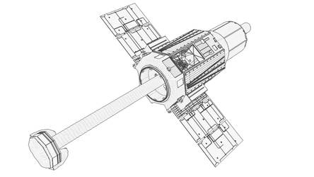 X ray telescope ASTRO H Angle 03 Outline by GoMiyazaki
