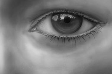 Eye in Grayscale by ChristopherDeer