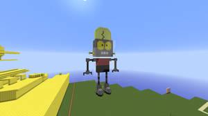 Robot Jones in Minecraft