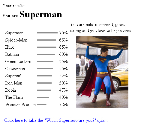 Which Superhero am I? by What-the-Gaff on DeviantArt