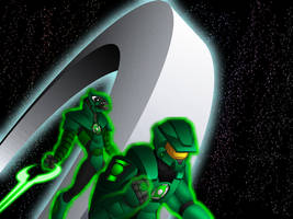 Halo + Green Lantern