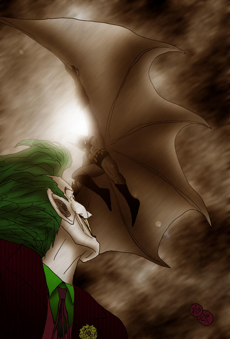 Batman and the Joker by What-the-Gaff
