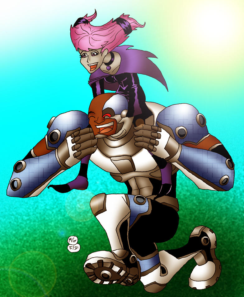 TT- Cyborg and Jinx a runnin' by What-the-Gaff