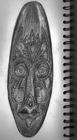 African Mask Pencil Study