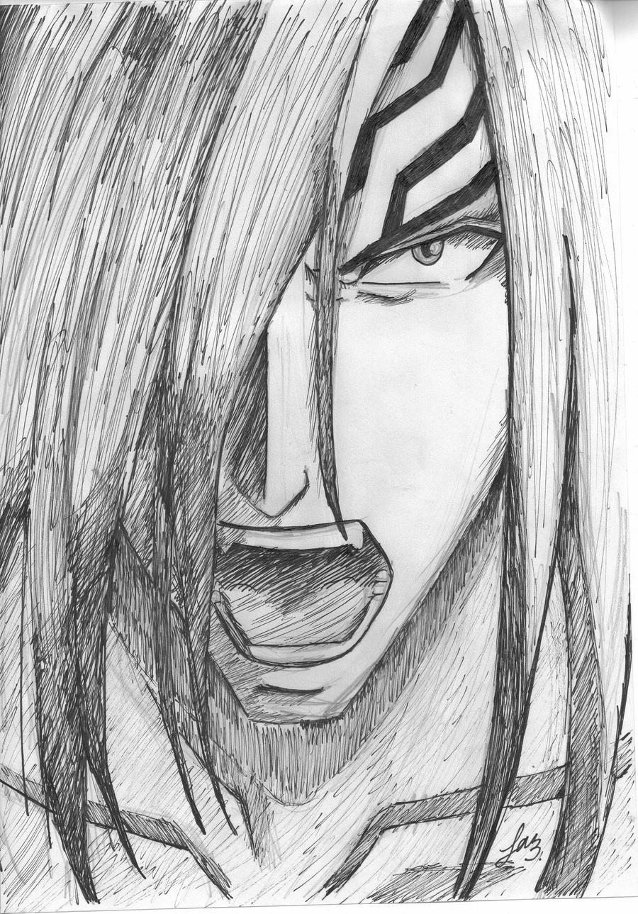 Renji Pen Sketch .BLEACH. By Falakalak On DeviantArt