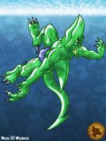 Marin the aquatic dragon by Lysozyme