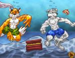 Shimizu and Bradley underwater