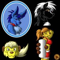 Four heads by Lysozyme