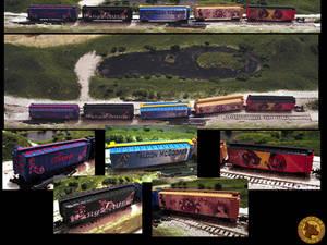 Five more boxcars