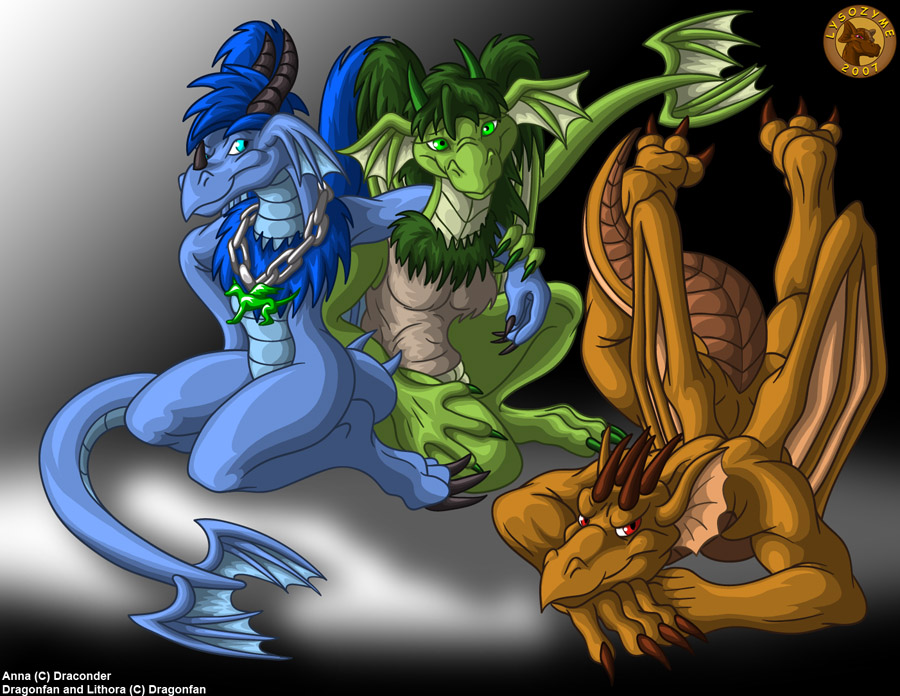 Dragonfan, Lithora, and Anna by Lysozyme
