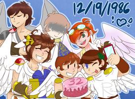 Happy birthday, you funky little chicken warriors~ by Azuhreidii