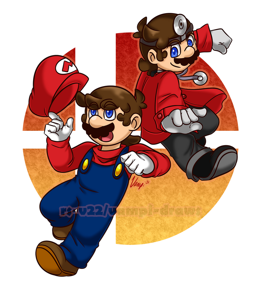 Mario And Dr. Mario On (Accidental) SSBU Mains By