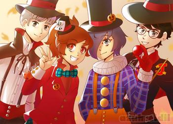 A Group of Halloween Fools by Azuhreidii