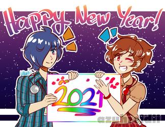 Happy New Year 2021~! by Azuhreidii