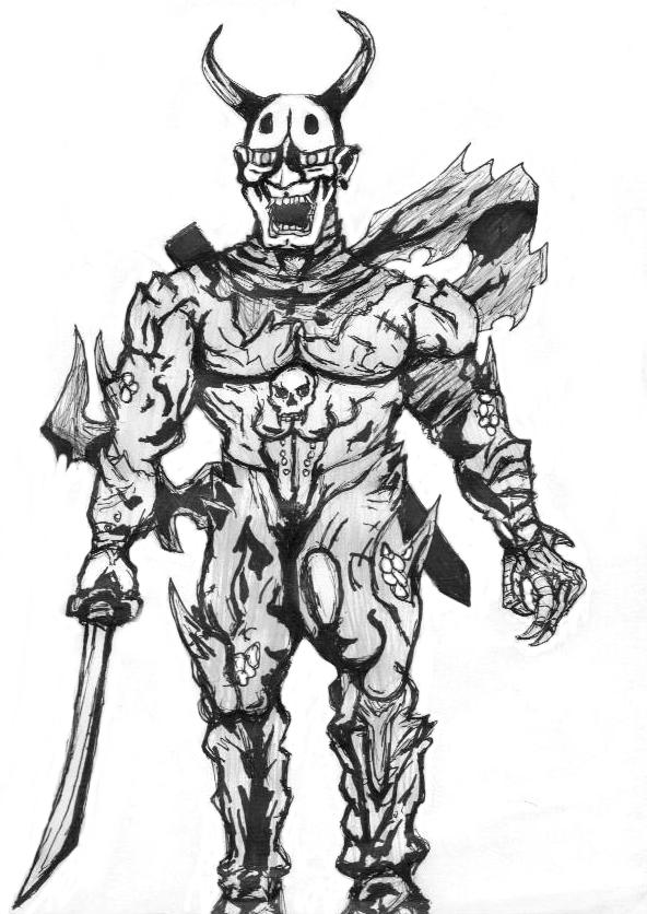 demon samurai oni by besieged on deviantart