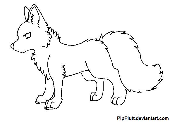 Chibi Wolf Base Chibi Wolf Base by Pipplutt