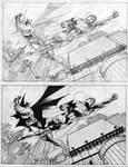 Jim Lee Supes and Bats