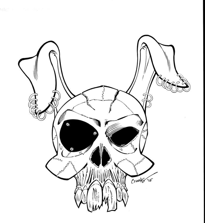 Bunny Skull 1 by Splotchy77