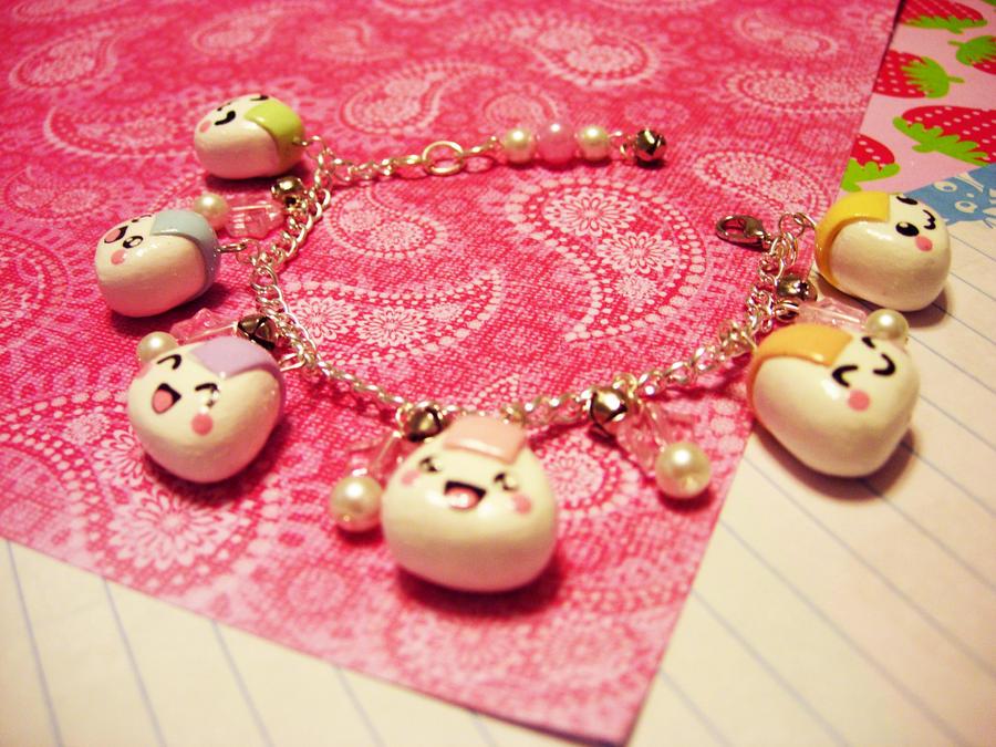 Rainbow Onigiri bracelet by pinkDudu